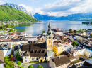 Gmunden City and Traunsee Lake, Austria