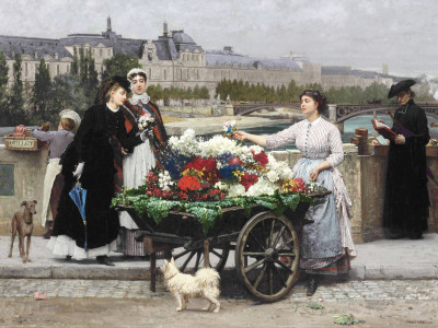 The Flower Seller On the Pont Royal
