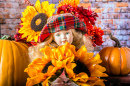 Doll with Sunflowers