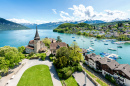 Spiez Castle on Lake Thun, Switzerland