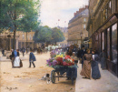 The Flower Seller, Place de la Comedie Francaise