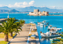 Nafplio City and Bourtzi Castle, Greece