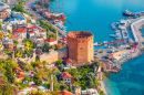 Kizil Kule Tower, Alanya Peninsula, Turkey