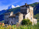 Medieval Castle of Valle d'Aosta, Italy