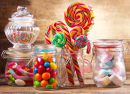 Colorful Candies, Lollipops and Marshmallows