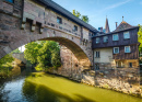 Bridge over Pegnitz River, Nuremberg, Germany