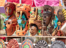 Mayan Masks, Chichen Itza, Mexico