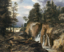 Rocky Landscape with a Waterfall