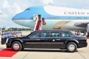US Presidential State Car by Air Force One
