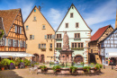 Town Square of Eguisheim, France
