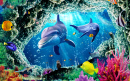Dolphins and Tropical Fish