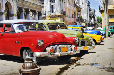 Classic American Cars in Havana, Cuba jigsaw puzzle in ...