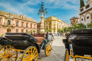 Horse Carriages in Seville, Spain