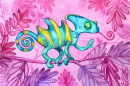 Watercolor Chameleon