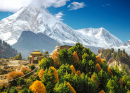 Manaslu Mountain in Himalayas, Nepal