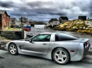 Corvette at Peggy's Cove