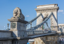 The Chain Bridge at Budapest, Hungary