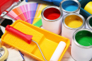 Decorator Tools and Paint Cans