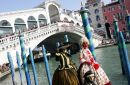 Rialto Bridge in Venice during Carnival