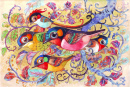 Colorful Birds Watercolor