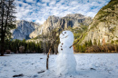 Snowman in the Yosemite Valley