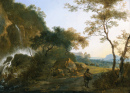 An Italianate Landscape with a Traveler