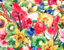 Tropical Fruit Watercolor