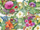 Garden Flowers Watercolor