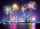 New Year Fireworks in Shanghai, China