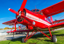 Red Biplane on a Sunny Day
