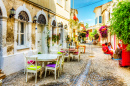 Street Cafe in Alacati, Turkey