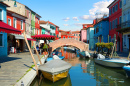 Bridge in Burano, Venice, Italy