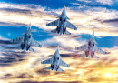 Fighter Jets Taking off at Sunset