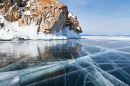 Olkhon Island and Frozen Lake Baikal, Siberia