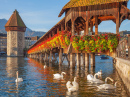 Chapel Bridge, City of Lucerne, Switzerland