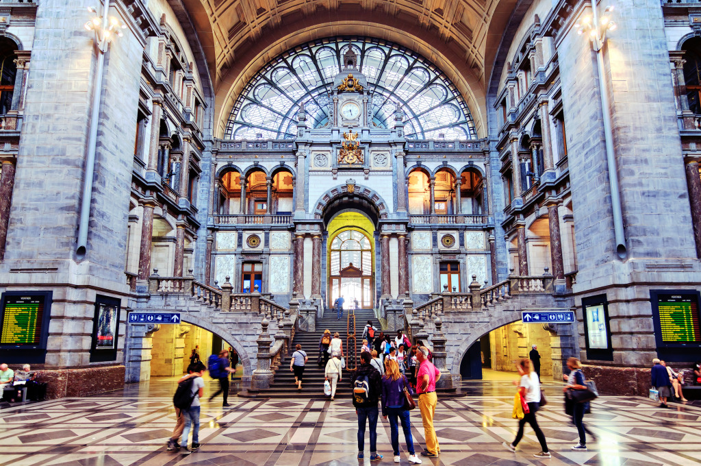Antwerp Central Station Belgium Jigsaw Puzzle In Puzzle Of The Day Puzzles On Thejigsawpuzzles Com