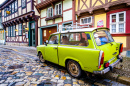 Old Trabant in Quedlinburg, Germany