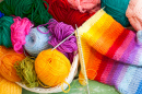 Colored Wool Yarn