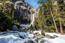 Lower Yosemite Falls at Winter