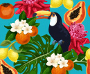 Toucan and Exotic Fruits