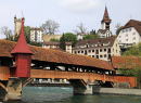 Wooden Mill Bridge, Lucerne, Switzerland