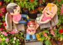 Clay Dolls in the Garden
