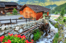 Ancient Sawmill, Village of Grimentz, Switzerland