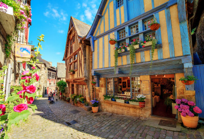 Town of Dinan, Brittany, France