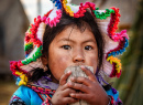 Young Peruvian Girl, Lake Titicaca