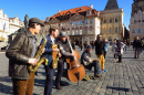 Street Band in Prague, Czech Republic