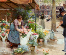 Flower Market in La Madeleine, Paris