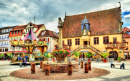 Main Square of Molsheim, France