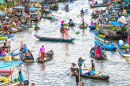 Floating Market, Soc Trang, Vietnam