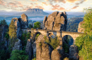Bastei Bridge, Saxon Switzerland, Germany